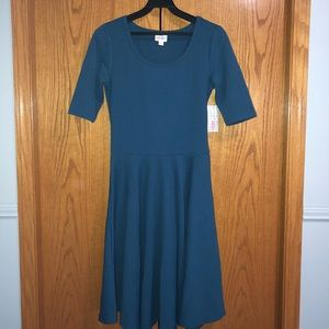 NWT Teal LulaRoe Nicole dress